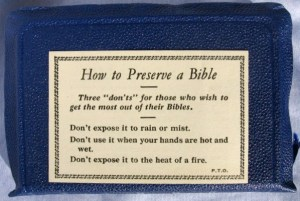 What *NOT* to do with your Bible!